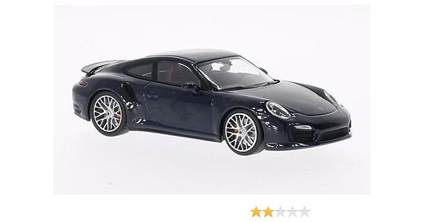 Porsche 911 Turbo S 991 Met Dkl Blau 2013 Modellauto Fertigmodell Minichamps 1 43 Spielzeug
