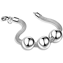 Leisial™ Pulsera con Perlas Acero Inoxidable Joyería Accesorios Regalo para Navidad San valentin Cumpleaños para Mujeres Niñas Ajustable