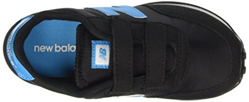 New Balance 410 Hook and Loop, Baskets Basses Mixte Enfant Multicolore (Black/blue)