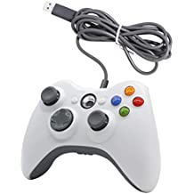 Game Controller Gamepad USB Wired Gaming Joystick Handle Shoulders Buttons Improved Ergonomic Design Joypad Gamepad Controller for Xbox 360 Support PC (Windows XP/Vista/7/8/8.1/10)