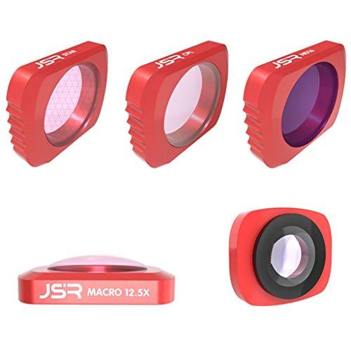 jfhrfged Die neueste DJI OSMO Pocket Kamera 5 in 1 CR Weitwinkel + 12.5X + CPL + ND16 + Star Linsenfilter (rot)