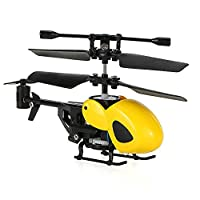 ECLEAR RC Mini Helicopter with Gyro 3.5CH Remote Control Quadcopter Drone RTF Toy For Kids Adult - Yellow