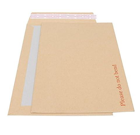 Board Backed Envelopes A4 - 235 x 328mm. 125 Pack. Rigid Cardboard Back &