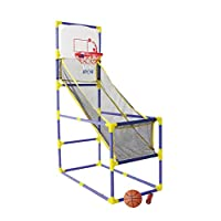 Kidz Gamez Garden Arcade Basketball Game Set Indoor and Outdoor with Hoop, Ball and Pump (Approximately 86 x 45.5 x 129cm)