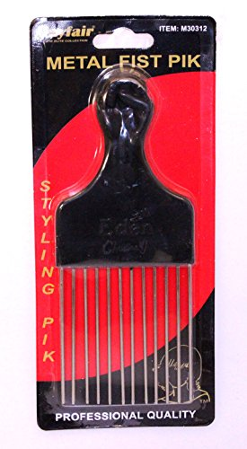 Mayfair Metal Fist Pik Comb - Black by Mayfair The Elite Collection (Elite Hair Brush)