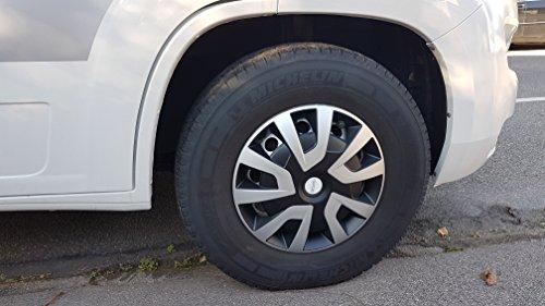 Michelin-92020-Copricerchi-Denise-per-Transporter-Van-e-camper-4-pezzi-381-cm-riflettore-System-nvs-ArgentoNero-4-pezzi-set-15-pollici