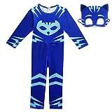 Wetry kinderkostüm Catboy Halloween-Cospaly-Verkleidung-Maskierter Superheld-Faschingskostüm-Blau/130