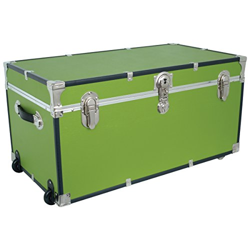 seward-trunks-5135-91-footlocker-trunk-with-paper-lining-and-wheels-green-31-inch