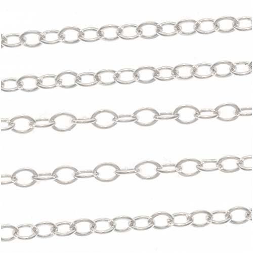 Ankerkette, sehr fein, Sterling-Silber, 1,2mm, Meterware (pro 30cm)