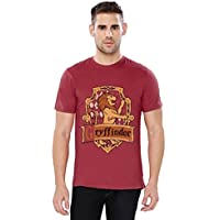 The Souled Store Men's Cotton Harry Potter: Gryffindor Sigil Printed T-Shirt (Maroon, XS)