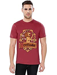 The Souled Store HARRY POTTER: Gryffindor Sigil Movie Graphic Printed Cotton T-shirt for Men Women and Girls