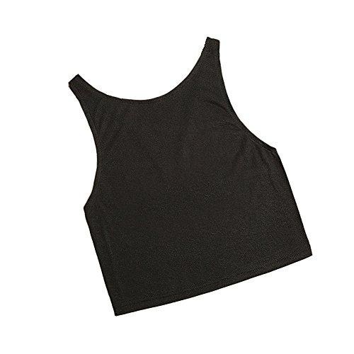 ... VLUNT Damen Frauen Sommer Shirt Schlinge Weste Ärmellos Bluse Black