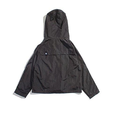 Honghu Mince couche capuche Blouson Homme Noir