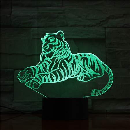 orangeww 3d ha condotto la luce di notte delle lampade di illusione ottica/lampada della decorazione della Tabella dello scrittorio del usb/tigre con