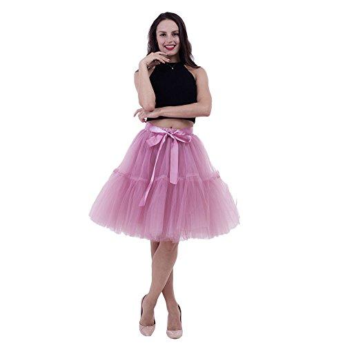 Xmiral Tüllröcke Petticoat Tutu Rock Retro-Faltenrock perfekt zu Strick und Heels oder Sneakers,Hochzeit und Party ()