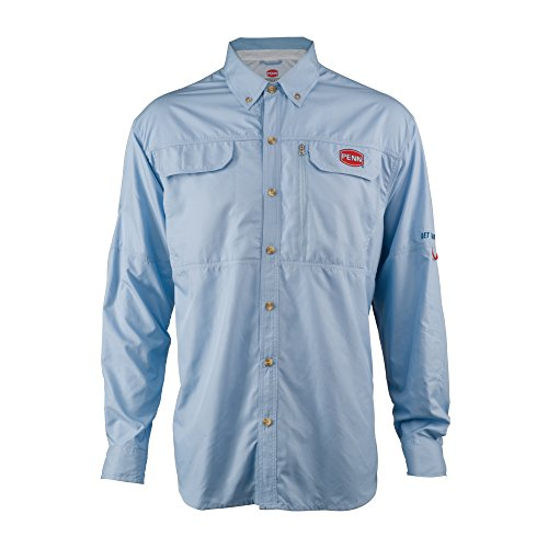 Penn Herren belüftet Performance Technische Lange Ärmel T-Shirt, Herren, blau