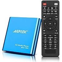 MKV Media Player, AGPtek Azul Mini Full HD 1080p Digital Streaming Media Player-MKV/RM-SD/USB HDD HDMI CVBS YPbPr