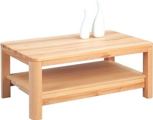 HomeTrends4You 246617 Couchtisch, 105 x 44 x 65 cm, kernbuche massiv geölt Schublade