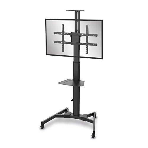 conecto LM-FS02BT Professional TV-Ständer Standfuß für Flachbildschirm LCD LED Plasma höhenverstellbar 37-70 Zoll (94-178 cm, bis 50 kg Tragkraft) max. VESA 600x400mm, Stahl, schwarz