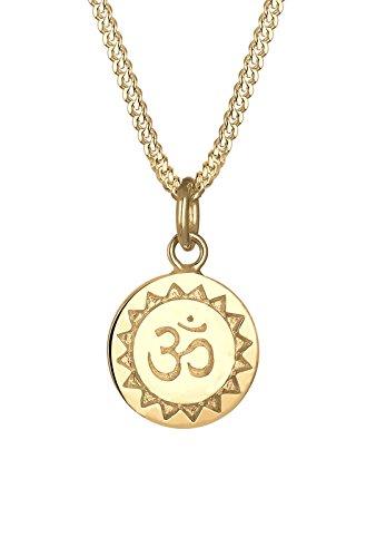 Elli señorías-collar con colgante karma OM oro 925 plata 40 cm - 0108251915_40