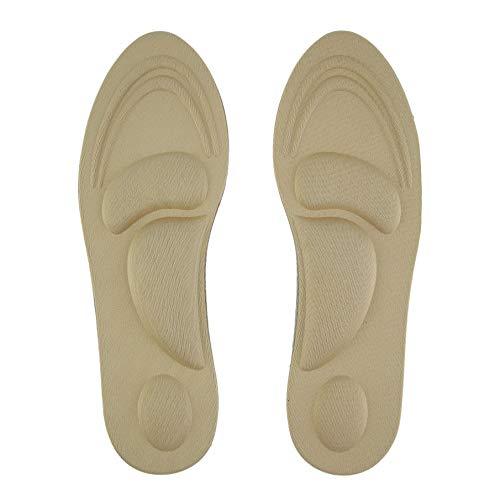 Rouku 1 paire de soutien de voûte plantaire orthèses de soins de massage des pieds à talons hauts tampons de chaussures souples couleur de peau