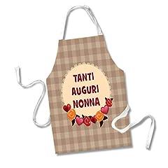 Idea Regalo - Babloo Grembiule da Cucina Idea Regalo Festa dei Nonni Tanti Auguri Nonna Granny