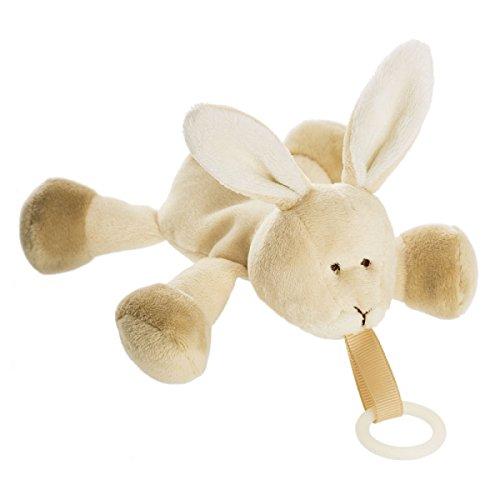 Schnullertier Kuscheltier mit Schnullerkette Hase Teddykompaniet