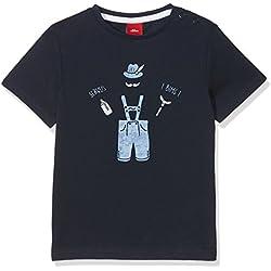 s.Oliver Baby-Jungen T-Shirt 69.807.32.5381, Blau (Dark Blue 5876), 68