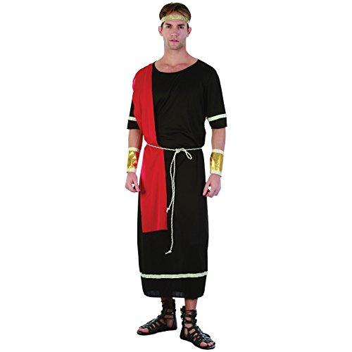 Spassprofi Kostüm Römer Schwarze Toga Größe 48-52 Römerkostüm Rom
