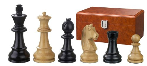 Philos-2126-Schachfiguren-Ludwig-XIV-Knigshhe-110-mm-gewichtet-in-Figurenbox