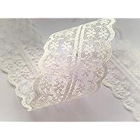 Sparkles Gems' Vintage Style Lace Ribbon Trimming Bridal Wedding Scalloped Edge 47mm 'UK Seller/Stock' (Ivory)