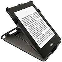 gadgitz Nero Eco-Pelle Case Cover Custodia per Amazon Kindle Paperwhite