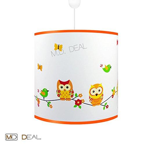 Kinderzimmer Jungen Deckenleuchte Hängelampe - EULE - Leuchte Lampe Decke 6Watt LED warmweiß E27