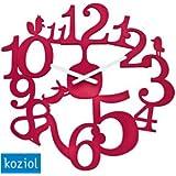 Koziol Pi:p Red Wall Clock
