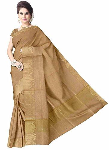 Glitters Women's Tissue Saree With Blouse Piece (Eglsa90C740_Cream)