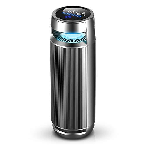 Auto Ionisator Luftreiniger, Luftfeuchtigkeit Luftqualitätsanzeige, Zigarettenrauch entfernen, unangenehmer Geruch,negative Ionen freisetzen - für Autos und kleine Räume