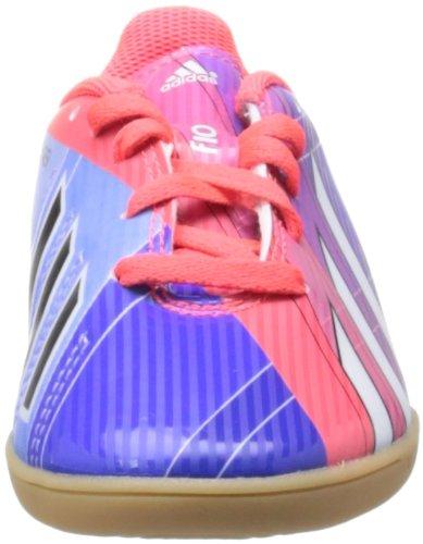 Adidas F10 Messi - Scarpetta da calcio indoor da bambino (Viola / Rosso / Bianco)
