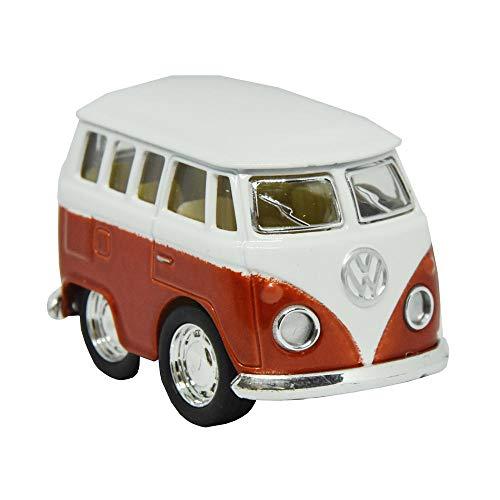 Preisvergleich Produktbild trendaffe Volkswagen VW T1 Bus Comic Style Modellauto in orange mit Rückziehmotor - Volkswagen Bulli T1 Cartoon Automodell