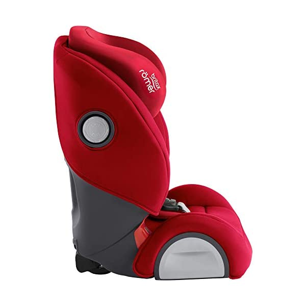 Britax Römer EVOLVA 1-2-3 SL SICT Group 1-2-3 (9-36kg) Car Seat - Fire Red  Installation, ISOFIX and a 3-point seat belt, or 3-point seat belt only Enhanced Side Impact Protection (SICT) minimises the force of an impact in a side collision CLICK & SAFE audible harness system for that extra reassurance when securing your child in the seat 6