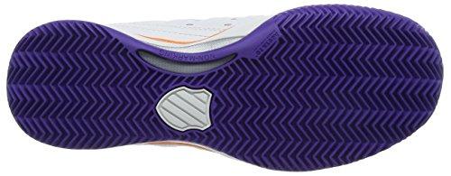 K-Swiss Performance Damen Hypermatch HB Tennisschuhe Weiß (White/Purple/Orange)