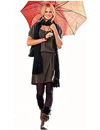 Jerseykleid mit Gürtel schwarz von Chillytime Gr. 36