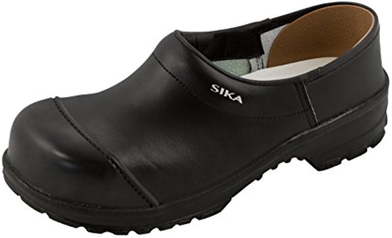 SIKA Comfort zuecos cerrados con madera-plantilla si negro