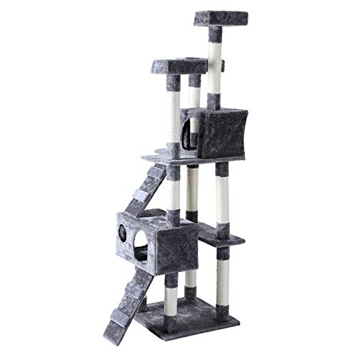 Estink Cat Tree, 5 Layers Cat tree scraper Helix Kitten Pets Play the dream with Mouse Toys