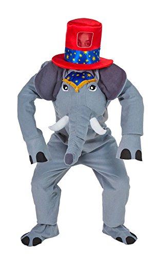 Zirkus Elefant Kostüm mit Hut - Lustiges Elephanten Kostüm für Erwachsene