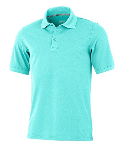 agon - Premium Herren Pique Polo-Shirt, bügelfrei, Coolmax, Coldblack, UV-Schutz, Geruchsblocker, atmungsaktiv, Kurzarm Türkis 56/2XL