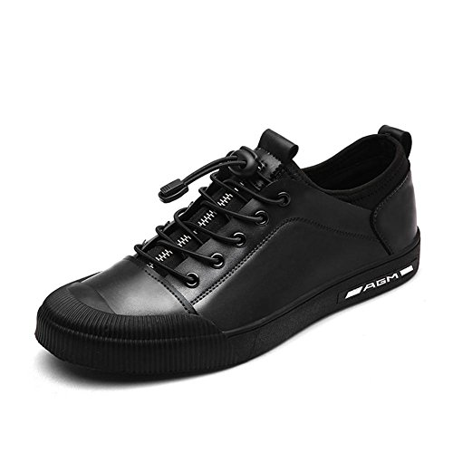 Calzado Deportivo Zapatillas Deportivas Zapatos Planos Zapatos Planos Zapatos De Hombres De Piel Transpirable Ropa Antideslizante Negro