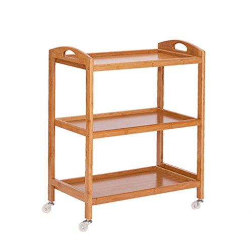 Cucina servizio posate, famiglia che può muoversi carrello con ruote carrello da pranzo scaffale da terra scaffale decorazione di bambù portaoggetti espositore ( colore : a , dimensioni : 60*33*70cm )