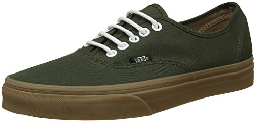 Vans Authentic, Sneakers Basses Mixte adulte Vert ((Gumsole) rosin/light gum)