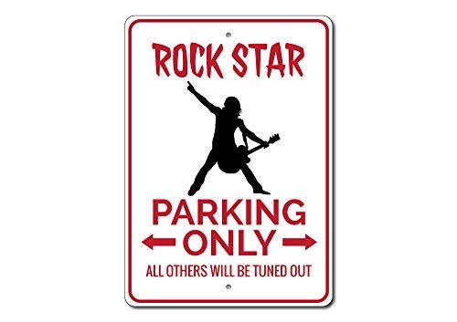 Rock Star Parking Sign, Rock Star Sign, Rock Star Geschenk für Musiker Zeichen, Rock Star Decor, Rock & Roll,-Qualität Aluminium Qualität Aluminium Schild, Aluminium, 2 12
