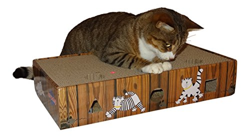 ENVIRONMENTALLY FRIENDLY CAT SCRATCHER & ACTIVITY TOY including CATNIP and TOYS 7